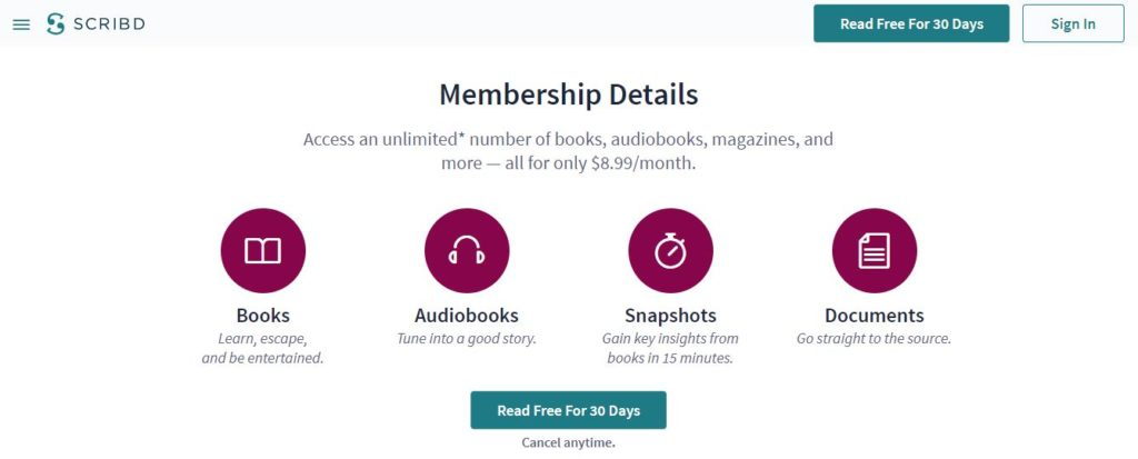 Scribd Vs Audible Which Is Best For Audiobooks 2019 Update