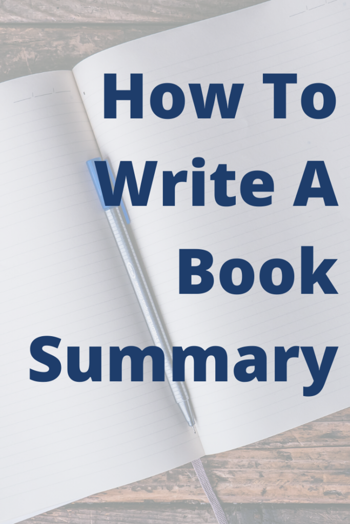 How To Write A Book Summary